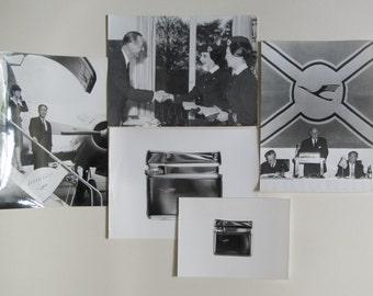 Vintage Lufthansa photographs. Original black and white photographic prints ca 1970s, promotional prints