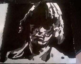 dee dee Ramone handpainted a4 canvas