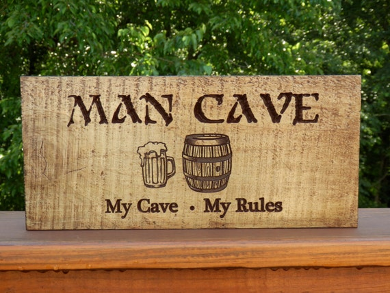 Rustic Man Cave Sign : Rustic man cave sign workshop with beer by