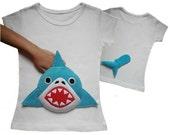 shark shirt,  shark tshirt,  shark clothing,  baby shark,  boy shark,   girl shark,  shark  applique,  kids clothes,  toddler clothes