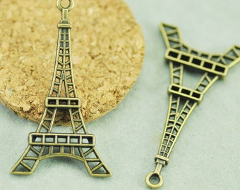 23mmx42mm  Antique Silver tone/Antique Bronze Effiel Tower Pendant Charm Finding,Two Loops