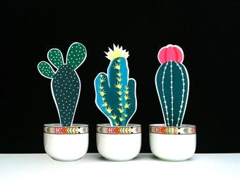 Paper plant, Paper cactus, Paper flower, Paper decoration, Paper flowers, Papercut, Papercutting, Paper illustration, Desk plant