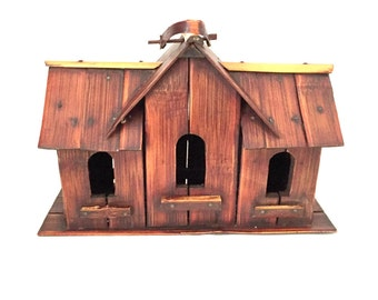 Bamboo Birdhouse, Vintage Chinoiserie Decorative House