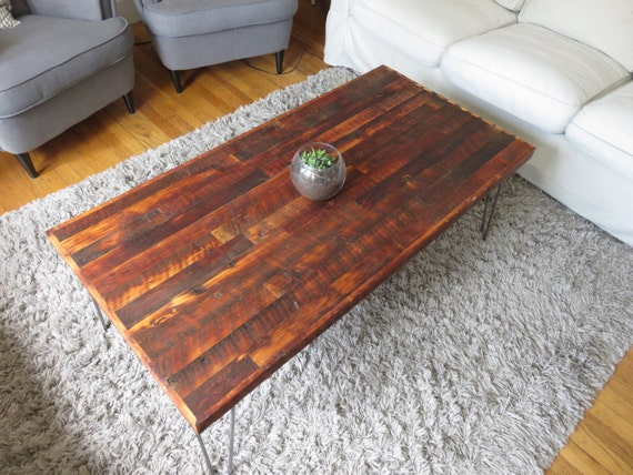 Rustic Reclaimed Wood Coffee Table By UniqueIndustry On Etsy