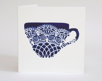 Cup of Tea card, Thank you card, Mothers day card, Get Well soon card.