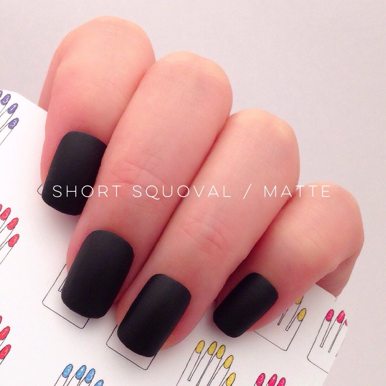 Short squoval acrylic nails – Great photo blog about manicure 2017