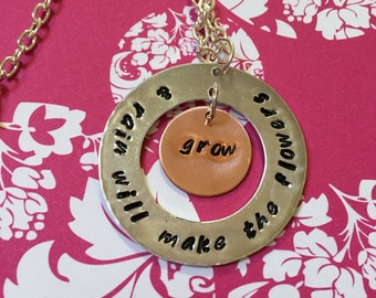 Rain will make the flowers grow Eponine Les Miserables necklace