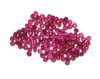 loose ruby gemstone 200 pcs parcel of 1 mm   diamond cut round ruby gemstone