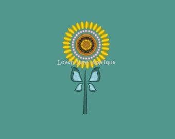 DIGITAL ITEM: Anna Fever Sunflower Skirt Embroidery Design