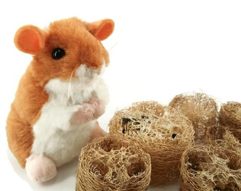 Natural Loofah Chews - Chew Toy Small Animals Guinea Pig Hamster Bunny Rabbit Toy Loofa Accessories