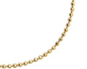 Diamond Cut Chain in 14K Gold
