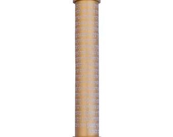 Small Scroll Engraved Metallic Mezuzah