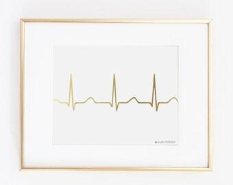 Nurse |Gift for Nurse | Nurse Gift | Nurse Gifts | Nursing Student | Nurse Graduation Gift | Nursing| EKG Printable Art | Instant Download