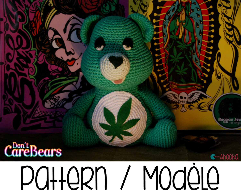 Amigurumi Care Bears Pattern : PDF PATTERN : Dont Care Bear amigurumi plush marijuana