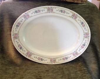"Johann Haviland Primrose Large 12"" Platter, Bavaria Germany, 1980s, Porcelain China, Haviland China, Primrose Pattern"