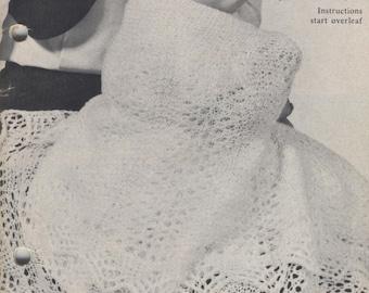Vintage knitting pattern, baby Blanket