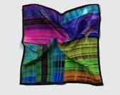 Pocket square silk, colourful alternative wedding handkerchief, mens hankies, designer pocket squares UK silk gift for him, Fathers Day gift