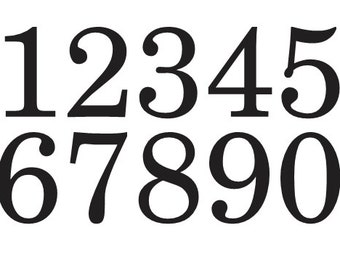 Stencils for a growth chart ruler ticks and for Classic house number fonts