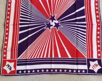 Vintage Bicentennial Scarf, 1776-1976