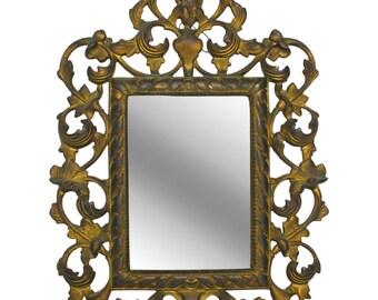 Italian Brass Dresser Mirror