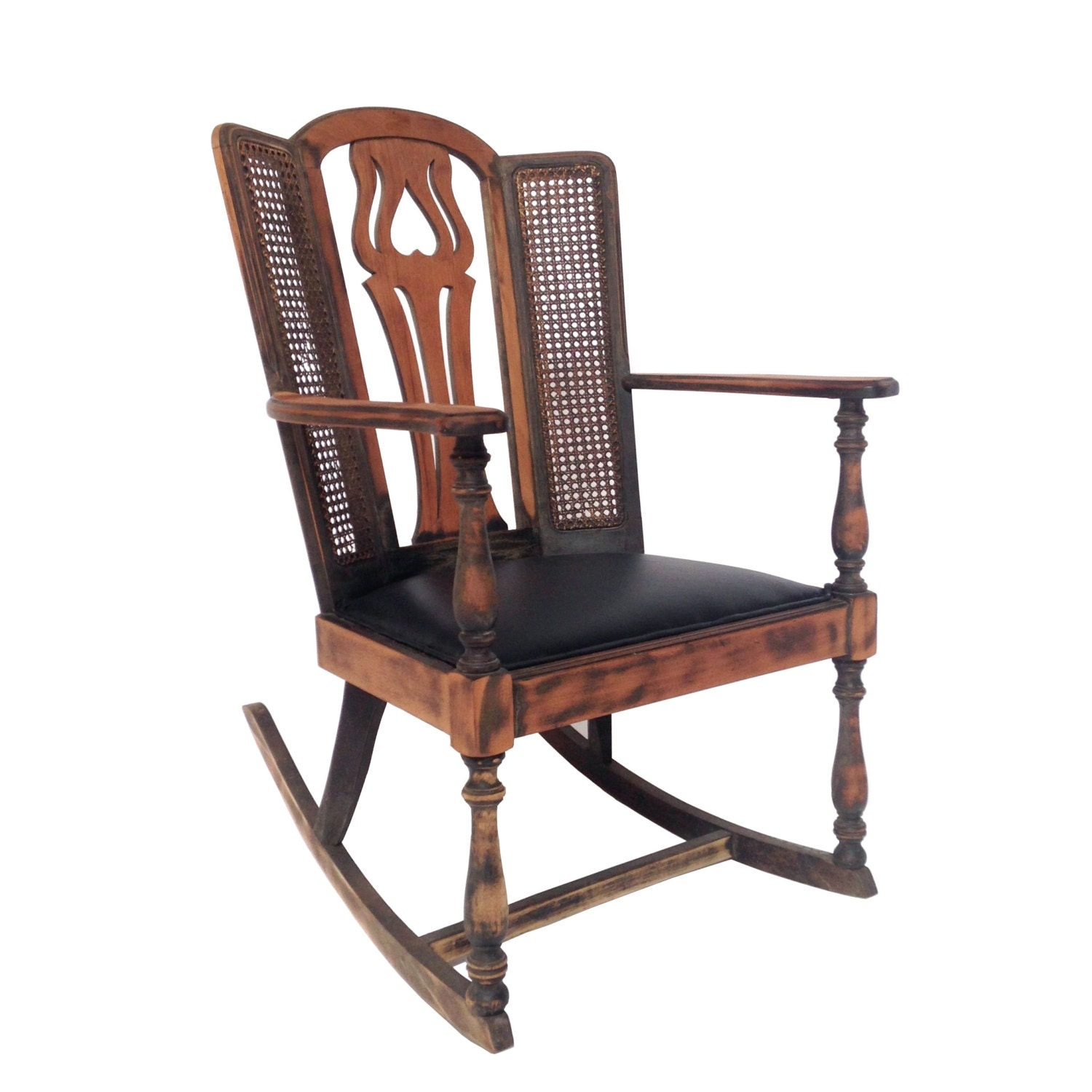 photos of wingback rocking chair