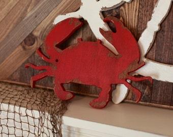 Crab Wood Cutout, Scroll Cut Crab, Crab Wood Sign Decor, Wall Decor Ocean Nautical Theme Crabby, Boys Room Decor Wall Hanging