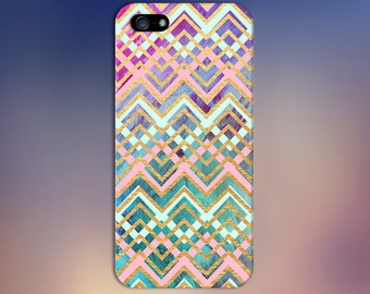 Teal x Pink x Gold Chevron Watercolor Design Case for iPhone 6 6 Plus iPhone 7  Samsung Galaxy s8 edge s6 and Note 5  S8 Plus Phone Case