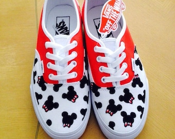 Mickey Mouse Bowties Adult Custom VANS Shoes