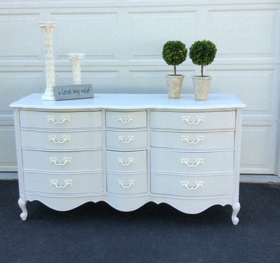 Vaisselier Shabby Chic: French Provincial Dresser Shabby Chic Chest Of Drawers White