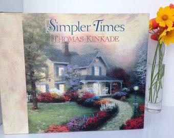 "THOMAS KINKADE BOOK is a Vintage Hardcover Coffee Table Book ""Simpler Times Thomas Kinkade"" w/Anne Christian Buchanan-Harvest House Publishe"
