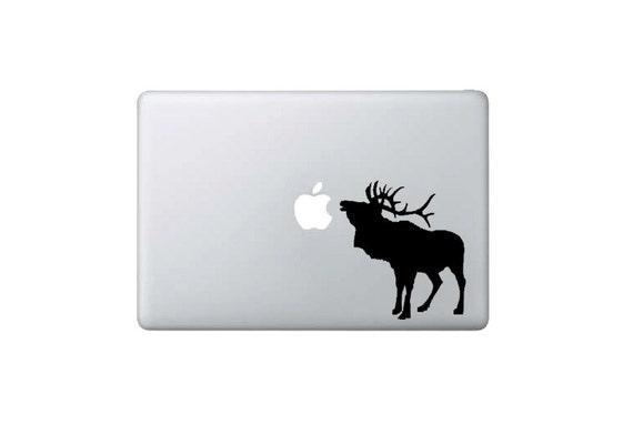 Moose/Elk/Caribou Eating Apple Macbook Decal