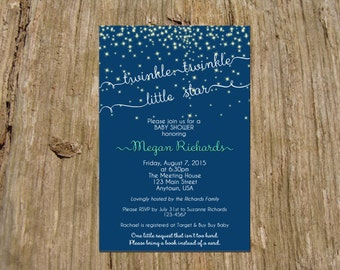 Twinkle Twinkle Little Star Invitation/Announcement, Baby Shower