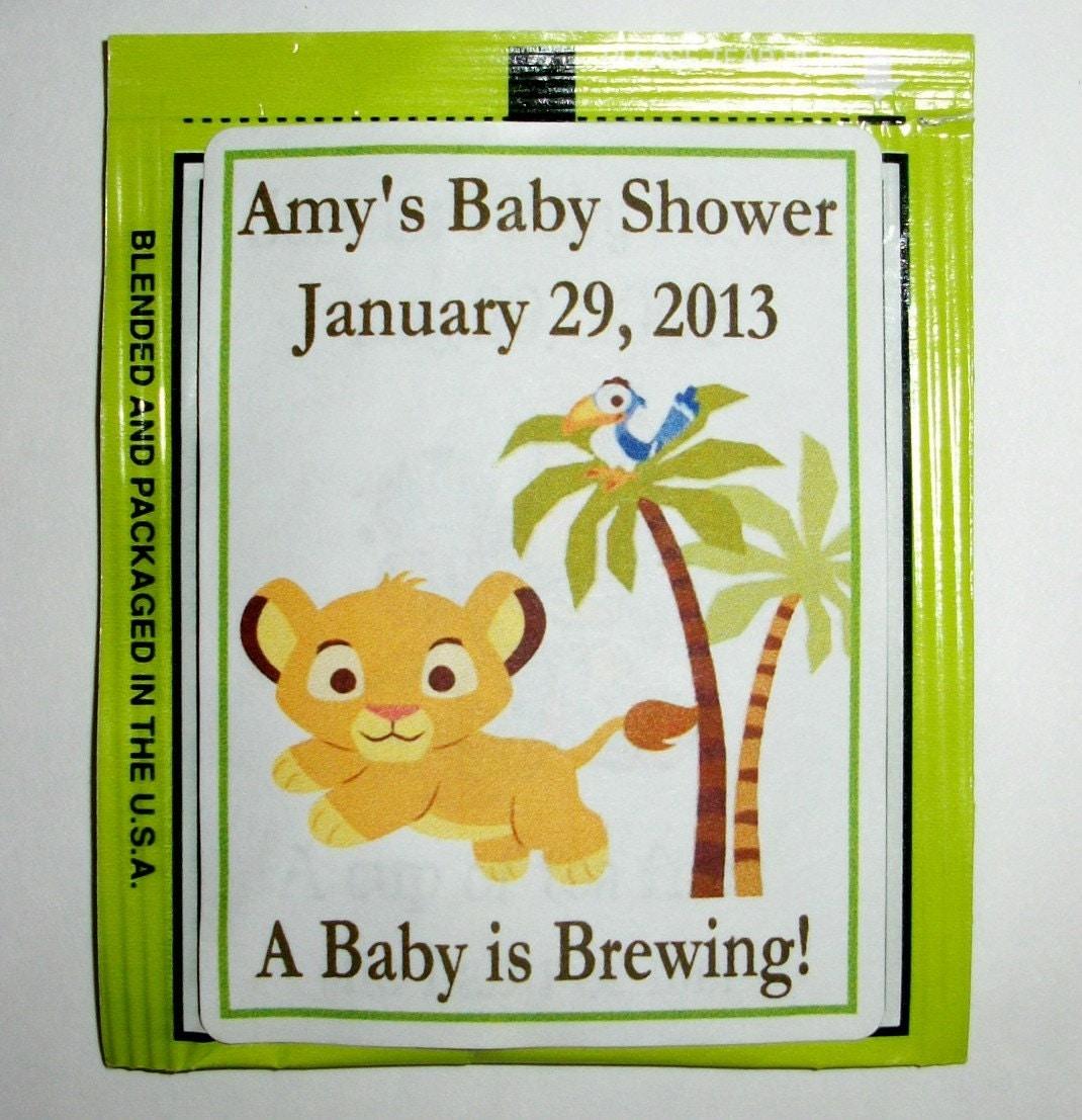 30 lion king baby simba baby shower favors tea bag labels