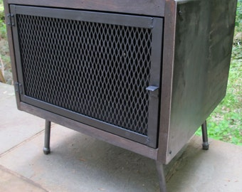 Media Console, TV  Stand, Steel Media Console, Industrial Console