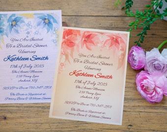 CUSTOM SHOWER INVITATION!  Elegant Flower Invitation Customize for Any Occasion!