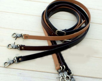 1 PCS Adjustable Black / Coffee / Camel PU leather Shoulder Bag Purse / Messenger Bag Purse / Tote Strap with Bronze Lobster Clasp