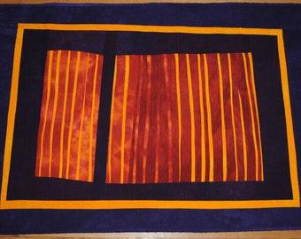 Handmade Art Quilt from Hand-Dyed fabrics