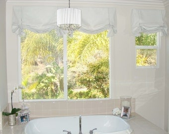 Custom Window Treatments LONDON VALANCE (Mock Shade)-made to order (your fabric,my lining)