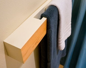 Contemporary Wooden Towel Rod