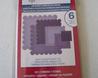 Spellbinders Nestabilities Classic Scalloped Squares Large