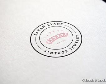 Premade logo design - jewelry store logo - gift shop logo - fashion logo - designer store logo - handmade store logo - elite logo
