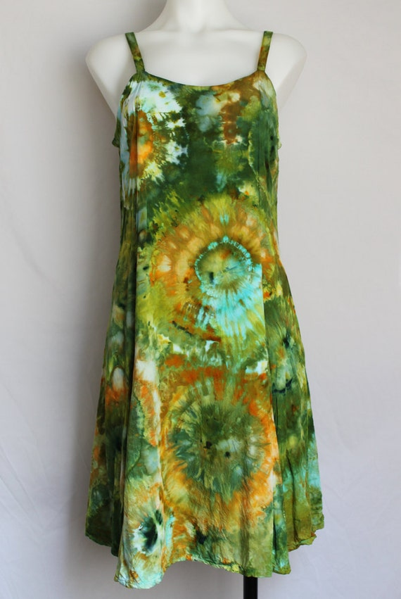 tie dye summer dress dyed clothing winter vacation