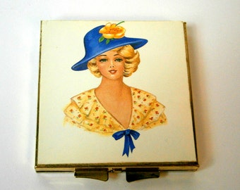 Double Mirror Compact /  Handbag Accessory /Makeup Compact / Southern Belle Compact