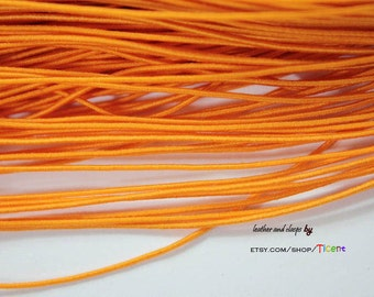 50 Yards 1mm Orange Elastic String, 1mm Stretch Cords ES2526