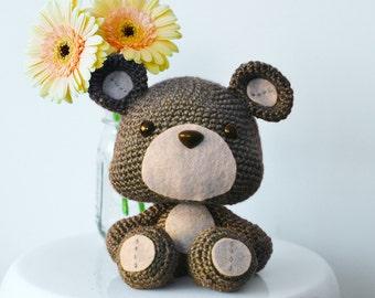 Teddy Bear Crochet Pattern. Titus The Teddy Bear Amigurumi Crochet Pattern. Bear Amigurumi Pattern. Bear Downloadable PDF Crochet Pattern