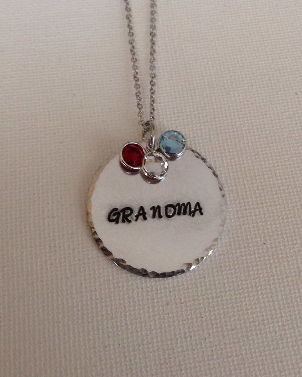 Grandma necklace grandma pendant with birthstones for Grandmother jewelry you can add to