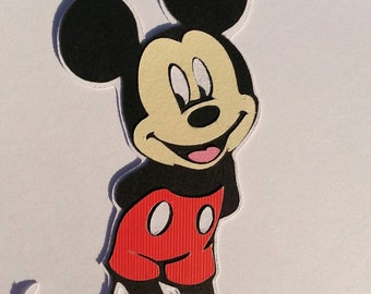 "Disney ~ Mickey Mouse ~ Cricut cutout ~ Scrapbook ~ Decoration ~ 4"" ~  embellishment"