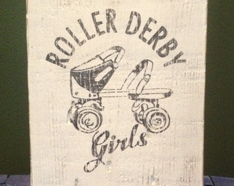 Vintage Roller Derby Girls Sign