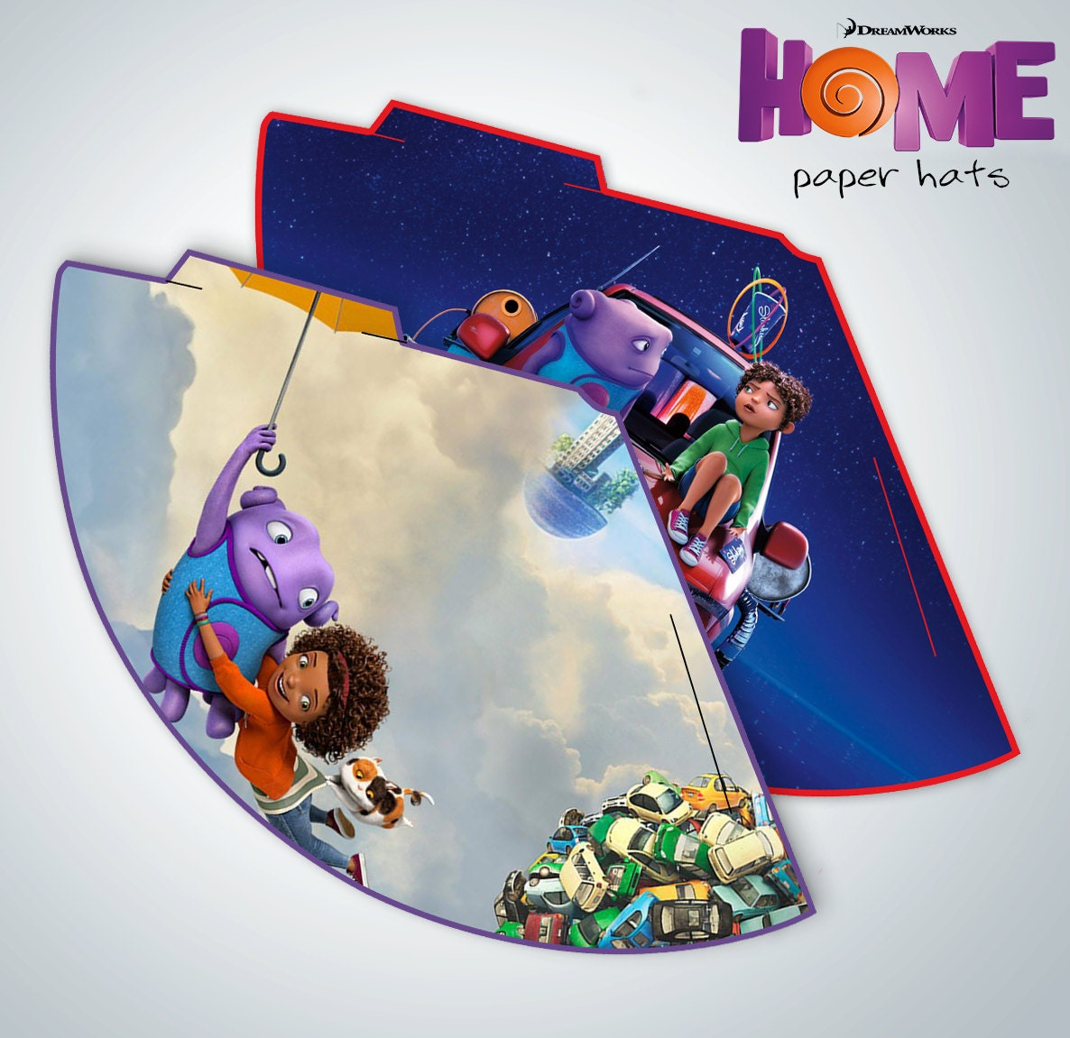 INSTANT DOWNLOAD HOME Dreamworks Party Paper by ThePartyCorner