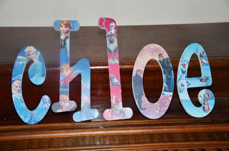 Frozen inspired bedroom - Frozen Custom Wooden Letters Frozen Bedroom Decor Elsa Bedroom Anna Bedroom Olaf